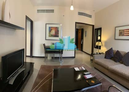 1 Bedroom Hotel Apartment for Rent in Hamdan Street, Abu Dhabi - FURNISHED 1BHK HOTEL APARMENT |Parking|Gym & Swiiming pool