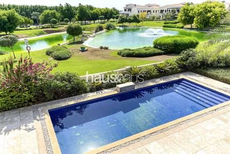 فیلا 5 غرف نوم للبيع في عقارات جميرا للجولف، دبي - Most sought after Valencia | Lake views | 5 BR+S