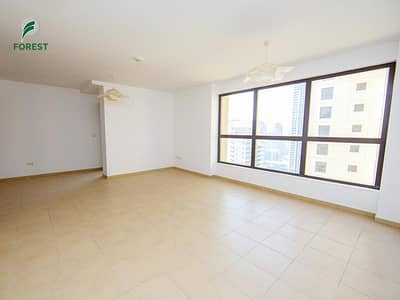 2 Bedroom Flat for Rent in Jumeirah Beach Residence (JBR), Dubai - Beautiful View 2BR |Unfurnished | High Floor
