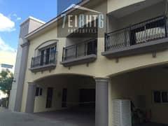 Modern design: 4 b/r spacious compound villa + maids room + swimming pool + gym + landscaped garden