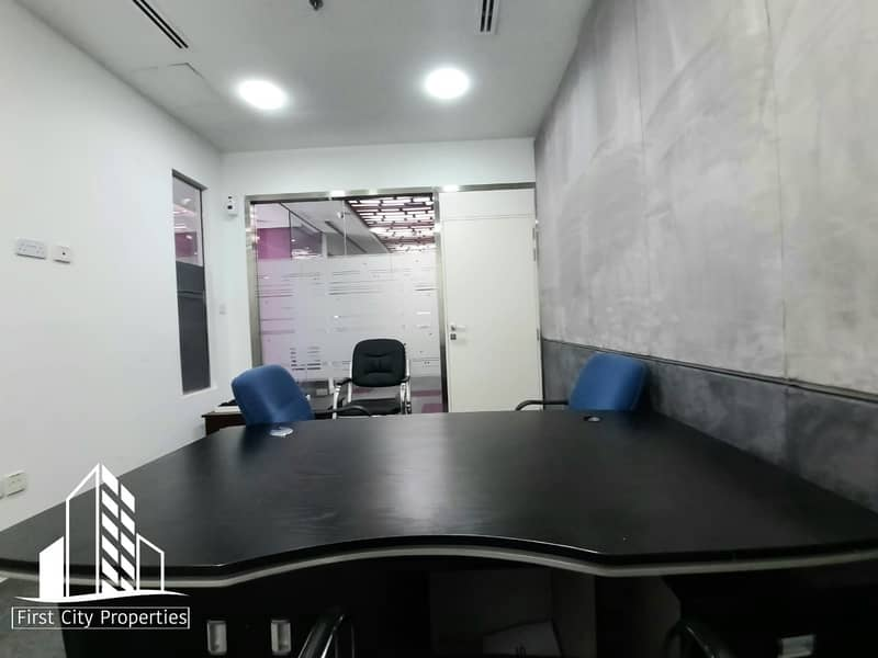 2 Well Furnished Offices with an Overlooking of Khalidiyah Road