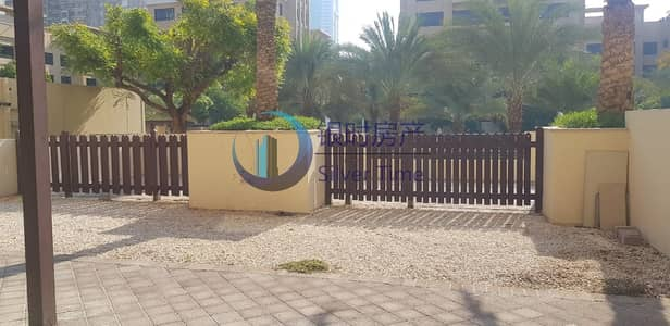 3 Bedroom Apartment for Rent in The Greens, Dubai - Cheapest price ground floor with courtyard.
