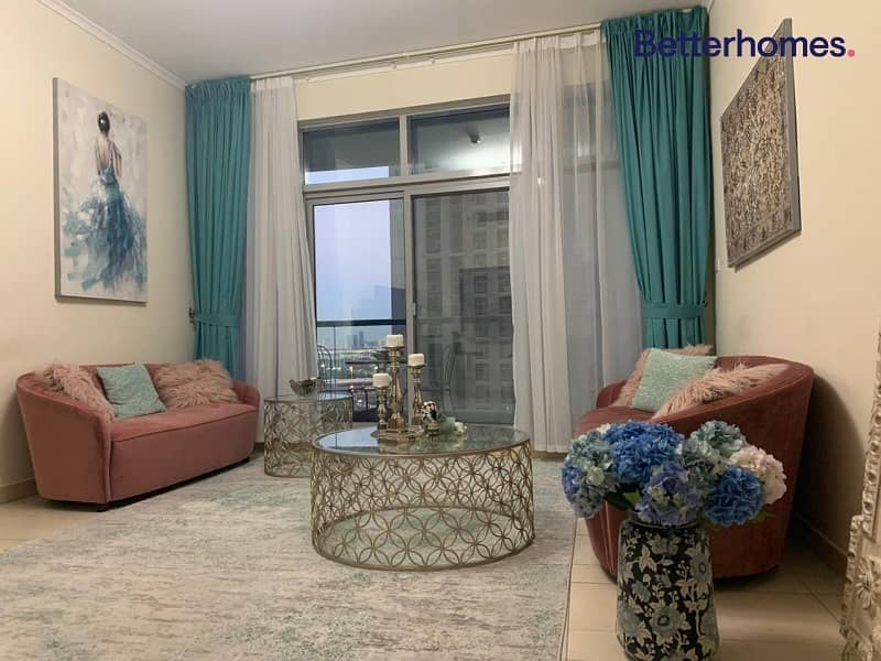 Furnished 1 bed | Chiller free | Vacant soon