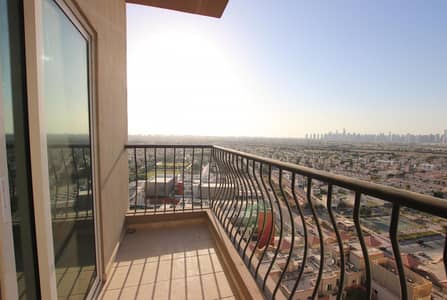 2 Bedroom Apartment for Rent in Jumeirah Village Triangle (JVT), Dubai - 2Bedrooms + Balcony |Pool View | Equipped Kitchen