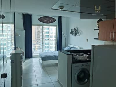 Studio for Rent in Dubai Marina, Dubai - Low Floor | Fully Furnished | Lively Location