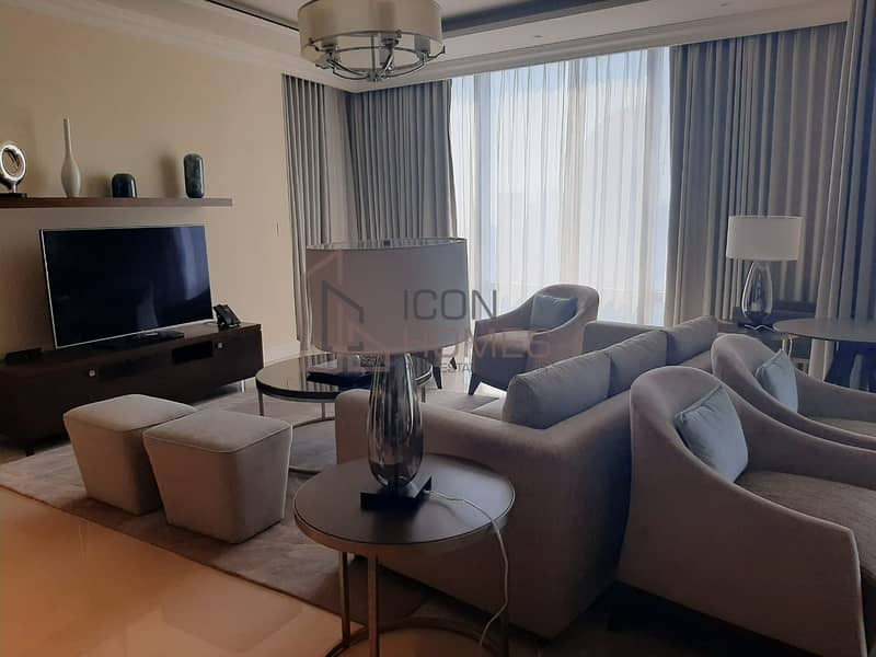 Luxurious Fully Furnished 3br+ Maid | Full Burj View