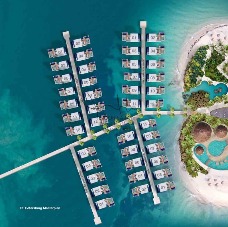 15 7 star Luxury Seahorse Villa in Dubai - Net 100%  ROI