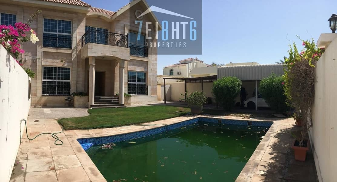 2 Beautifully presented: 5 b/r good quality semi-independent villa with maids room + private s/pool + garden