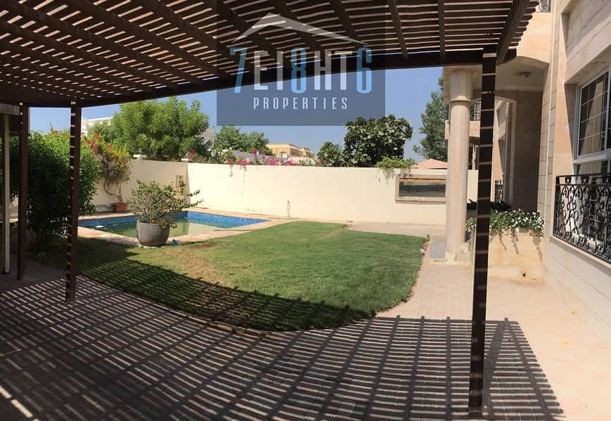 14 Beautifully presented: 5 b/r good quality semi-independent villa with maids room + private s/pool + garden
