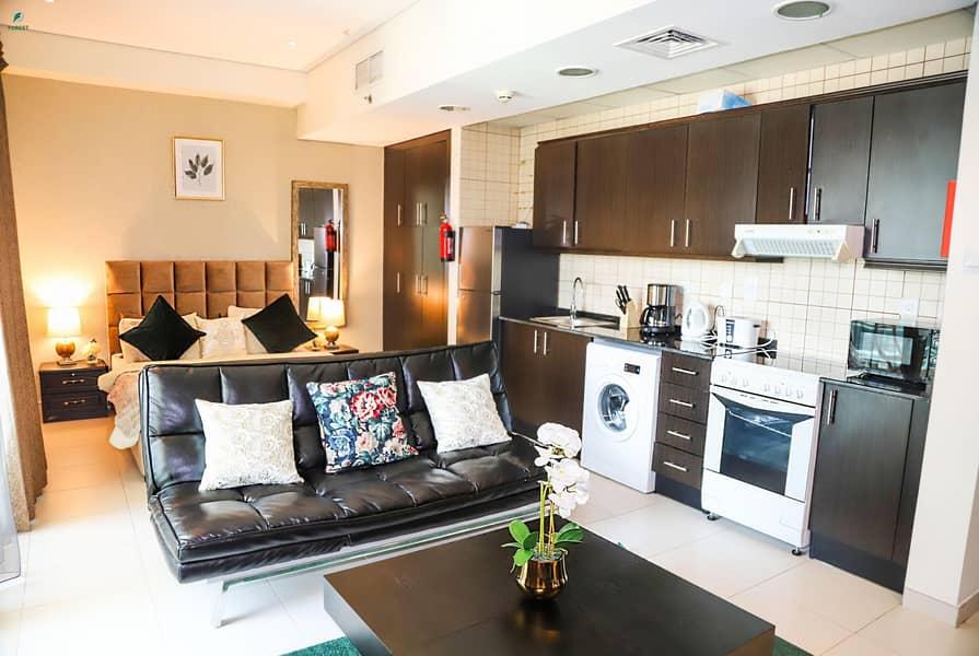 2 Elegant Studio with Marina View Fully Furnished