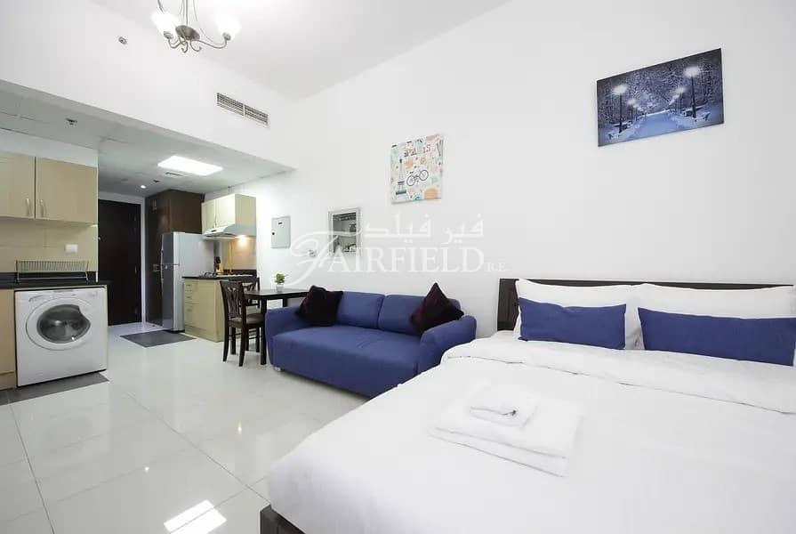 2 Large fully furnished studio apt