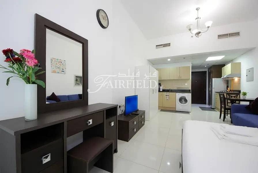 Large fully furnished studio apt