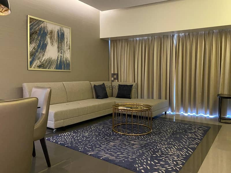 Long Balcony |Furnished 2 Bed room |Canal view