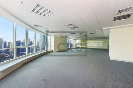 Office for Rent in Jumeirah Lake Towers (JLT), Dubai - Fitted | SZR  &  Sea  View | Partitioned