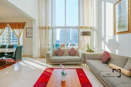 شقة 3 غرف نوم للايجار في دبي مارينا، دبي - 3 Bed Duplex I Marina View I High Floor