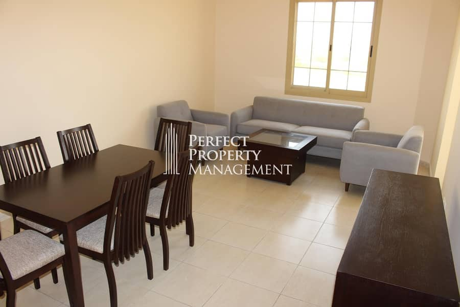 Furnished 3 bedroom apartment for rent in Yasmin Village