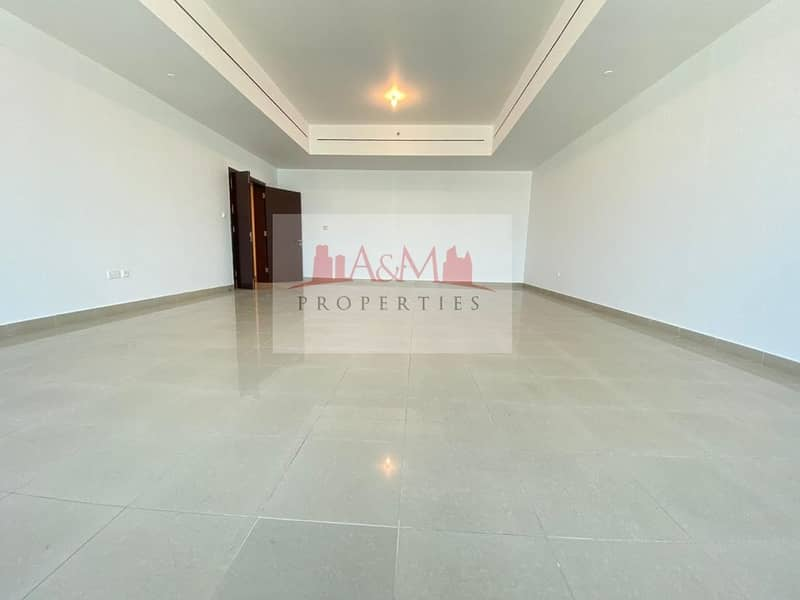 NO COMMISSION.: 3Bhk with Maids room & all Facilities in Tallest Tower on Electra street for AED 12