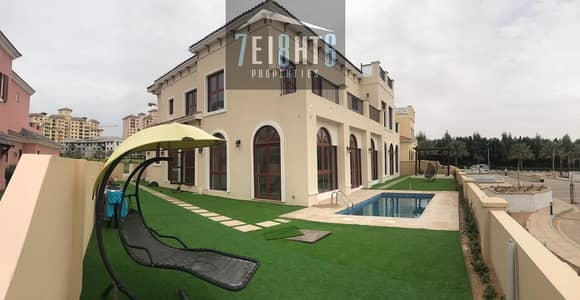 5 Bedroom Villa for Rent in Jumeirah Golf Estate, Dubai - Outstanding property: 5 b/r independent villa + servant quarters + PRIVATE s/pool + large stunning garden