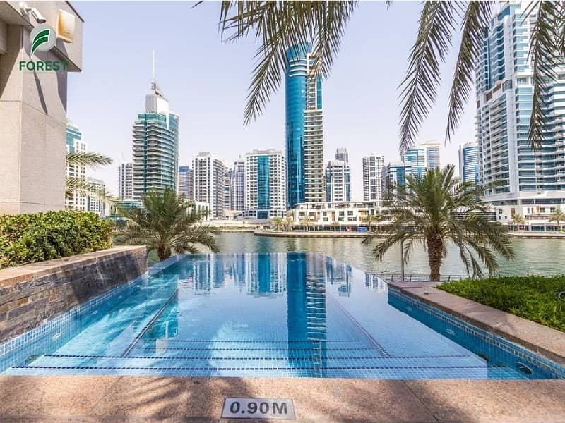 10 Available Now |1BR with Huge Balcony | Marina View