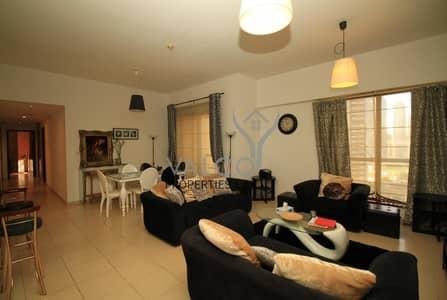 فلیٹ 2 غرفة نوم للايجار في جميرا بيتش ريزيدنس، دبي - 1BR+Storage | Full Marina Lake View | High Floor