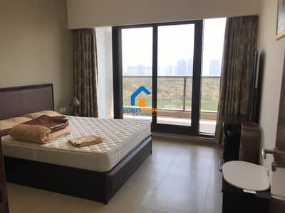 1 Bedroom Apartment for Rent in Dubai Sports City, Dubai - Golf View Fully Furnished Flat On Higher Floor....