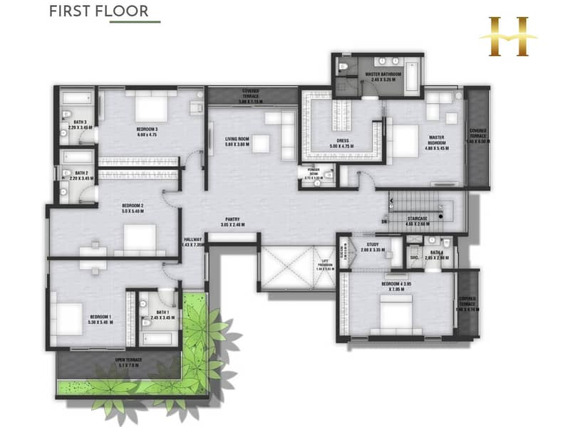 18 Four Bedroom | Type A1 | Private Pool