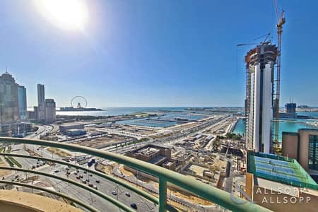 2 Bedroom Apartment for Rent in Dubai Marina, Dubai - Full Sea Views | Furnished | Large Balcony