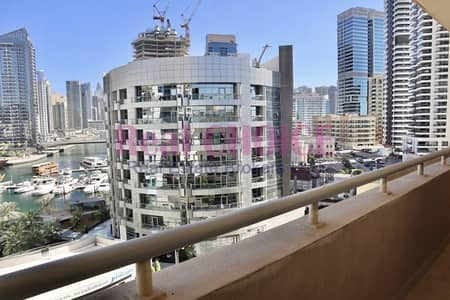 1 Bedroom Flat for Rent in Dubai Marina, Dubai - Well Maintained| High Floor with Marina View