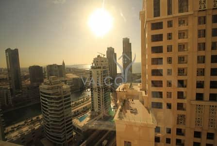 شقة 3 غرف نوم للايجار في جميرا بيتش ريزيدنس، دبي - 3BR+Maids |  Courtyard & Partial Sea View | Furnished