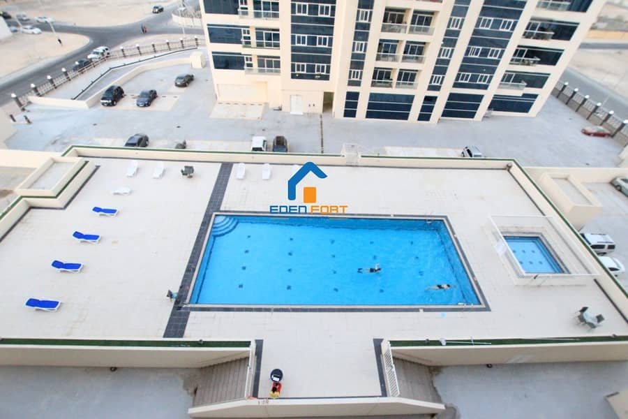 9 BEAUTIFUL POOL VIEW 1BHK AVAILABLE IN ROYAL RESIDENCE - DSC