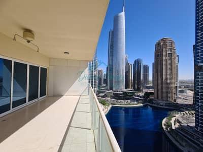 2 Bedroom Flat for Sale in Jumeirah Lake Towers (JLT), Dubai - Huge Terrace over looking on lake | Both Bedroom Ensuite | Close to metro