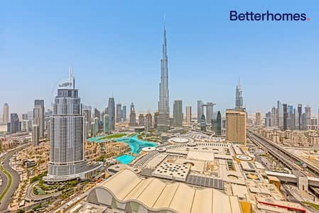 2 Bedroom Flat for Sale in Downtown Dubai, Dubai - High Floor | Fountain Views | Unfurnished