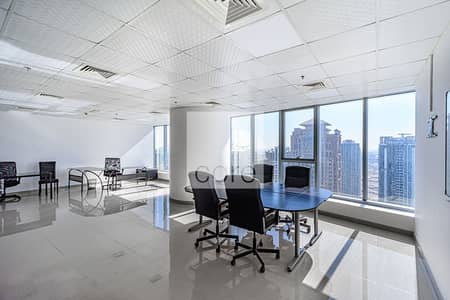 Office for Rent in Jumeirah Lake Towers (JLT), Dubai - Fitted and Furnished | High Floor | Parking