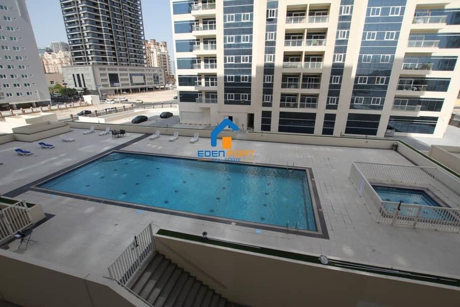 12 Pool View -  1 BHK Apartment Huge Balcony