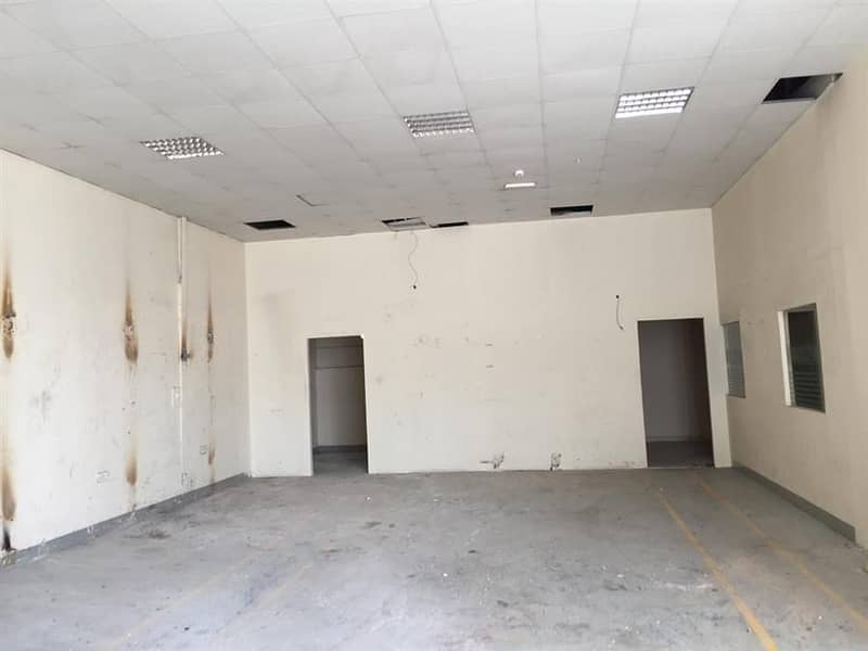 Commercial warehouse 2966 sq ft electrical load 35 kw for rent