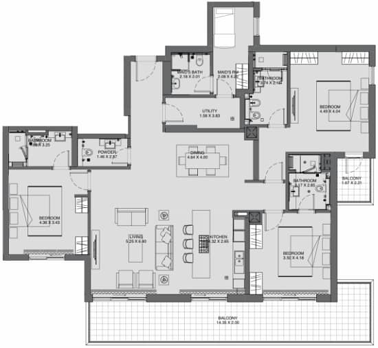 10 Large 3 Bed  | Phase One | Vacant December