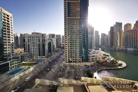 2 Bedroom Apartment for Rent in Dubai Marina, Dubai - Full Marina View | Infinity Pool | 2 Beds