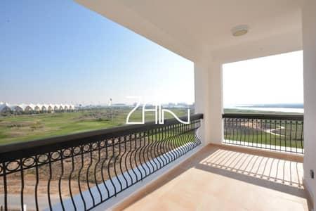 فلیٹ 3 غرف نوم للايجار في جزيرة ياس، أبوظبي - Golf Sea View 3+M Apt Spacious Layout with Balcony