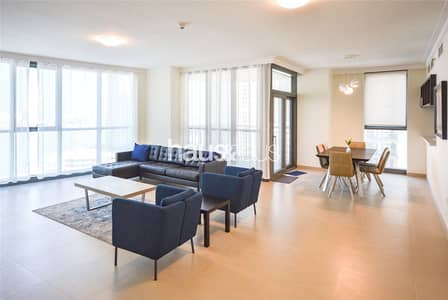 3 Bedroom Flat for Rent in The Lagoons, Dubai - Largest Layout | Incredible Burj Views | Furnished