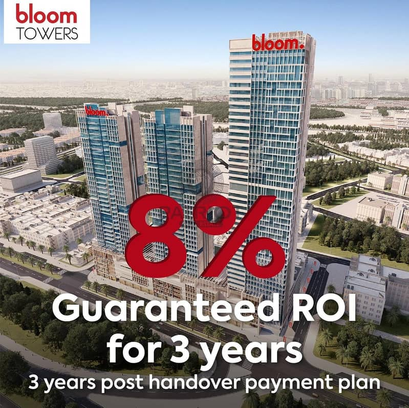 2 3 Bedroom  with 8% Guaranteed ROI over 3 Yrs Payment Plan