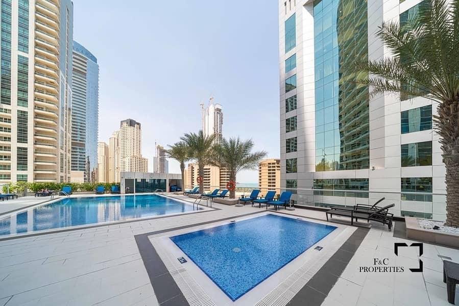 Top Floor 1br | Panoramic Marina & Palm View