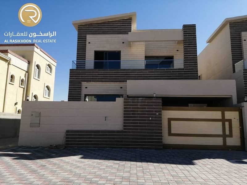 Villa for sale in Al Mowaihat, second plot of Sheikh Ammar Street