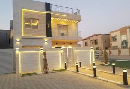 5 Bedroom Villa for Sale in Al Rawda, Ajman - From the owner, a villa for sale directly opposite the mosque, with a hotel design from the inside, with a very wonderful finish, without a commission for the real estate broker or a first payment to the bank, with the possibility of free ownership for al