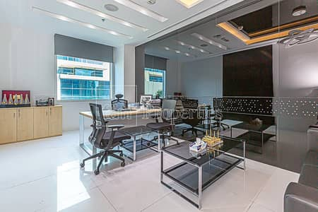 Office for Sale in Business Bay, Dubai - Fitted Office | Large Terrace | 15 Parking Bays