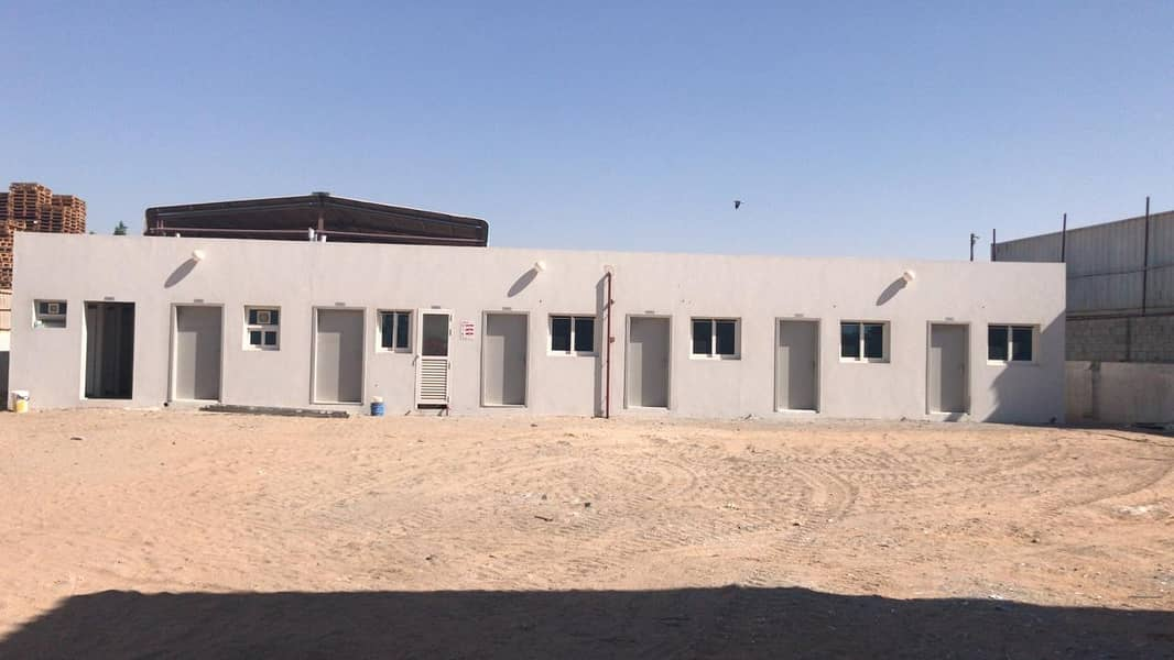 open yard with 10 rooms for rent in Sajaa 3 Phase Electricity(100 Kw)