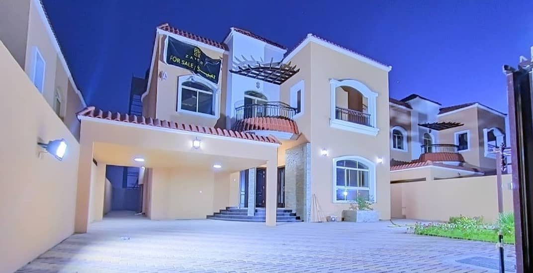 Without down payment to the bank, villa for sale on the asphalt street in Al Mowaihat 1 behind the new Nesto Mall with hotel design from the inside with a very wonderful personal building and finishing with free ownership for life for all nationalities