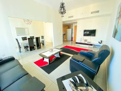 2 Bedroom Flat for Rent in Jumeirah Lake Towers (JLT), Dubai - 2BR Fully Furnished, Armada Tower, NO BALCONY, Corner Unit,