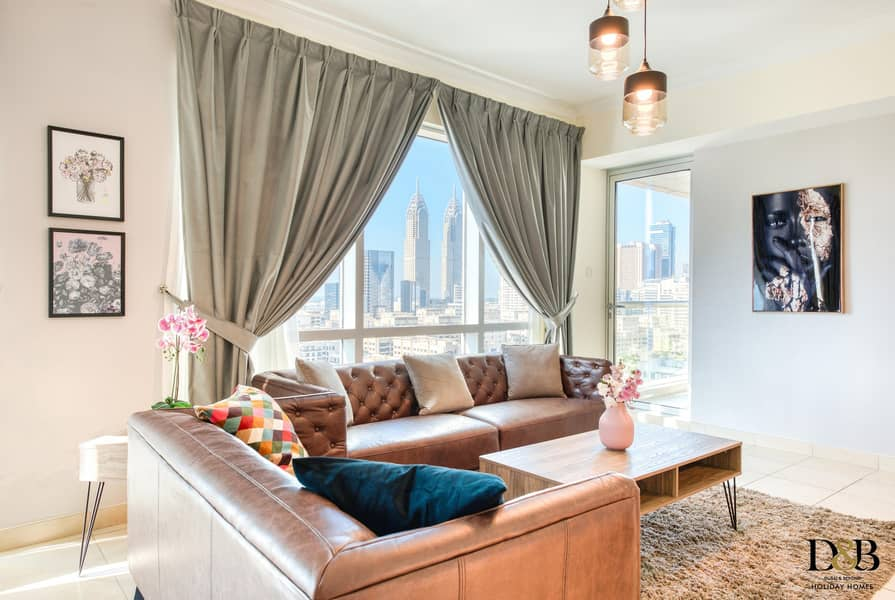 2 Elegantly furnished and brand new 2 bedroom apartment in the Views
