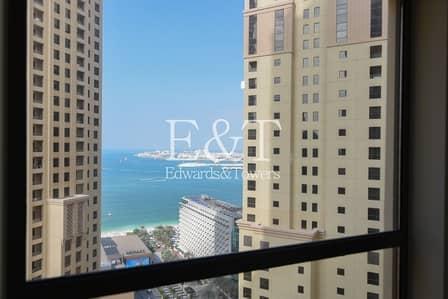 فلیٹ 2 غرفة نوم للبيع في جميرا بيتش ريزيدنس، دبي - Partial Sea View | High Floor | Rented | Rimal 1