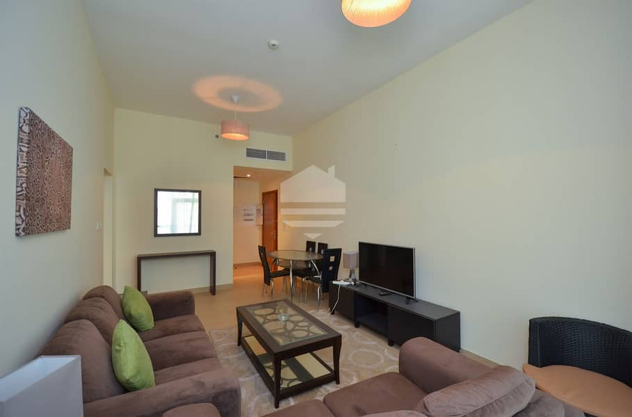 In Business Bay unit equipped Kitchen and Balcony